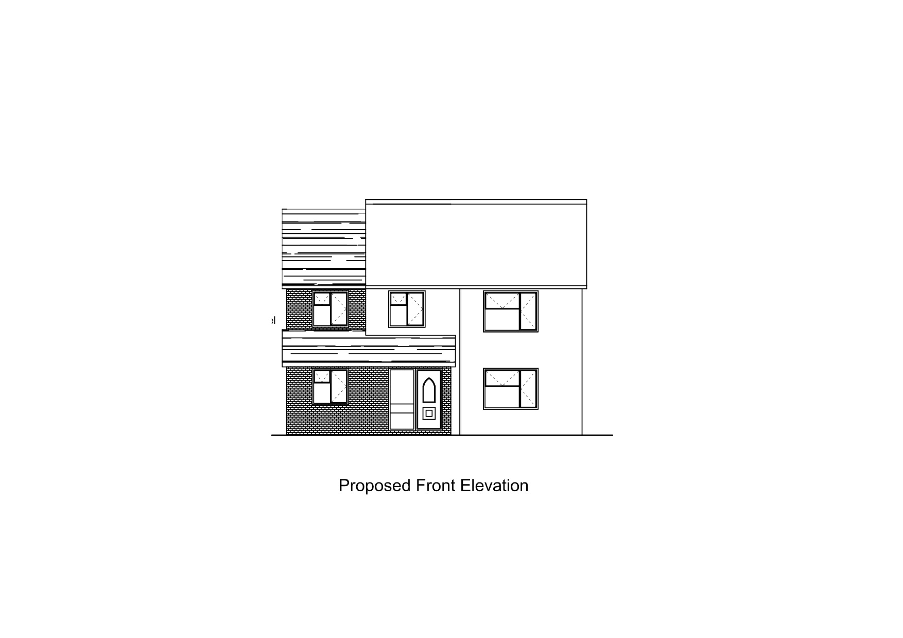 Sample Front Elevation U : Ah building design sample plans